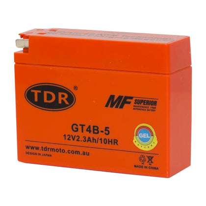 AGM Motorcycle Battery for Yamaha TTR50 TTR90 SR400 Suzuki DRZ70 GT4B-5 YT4B-5