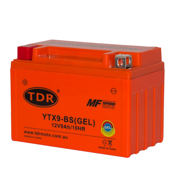 TDR YTX9-BS 12V 9AH MOTORCYCLE GEL BATTERY REPLACE GTX9-BS CTX9-BS