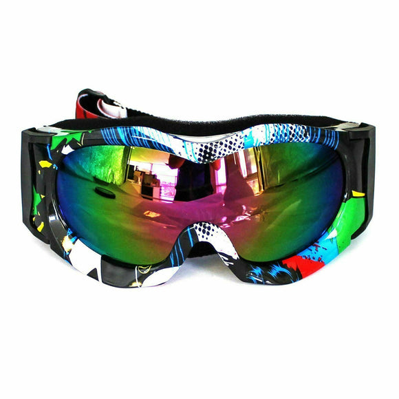 Graffiti Kids Motorcycle Goggles Bike Sport Eyewear Riding Cycling Anti-UV Glass
