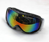 Ski Goggles Snowboard Double Lens Anti-fog Spherical Professional Glasses UV - Black