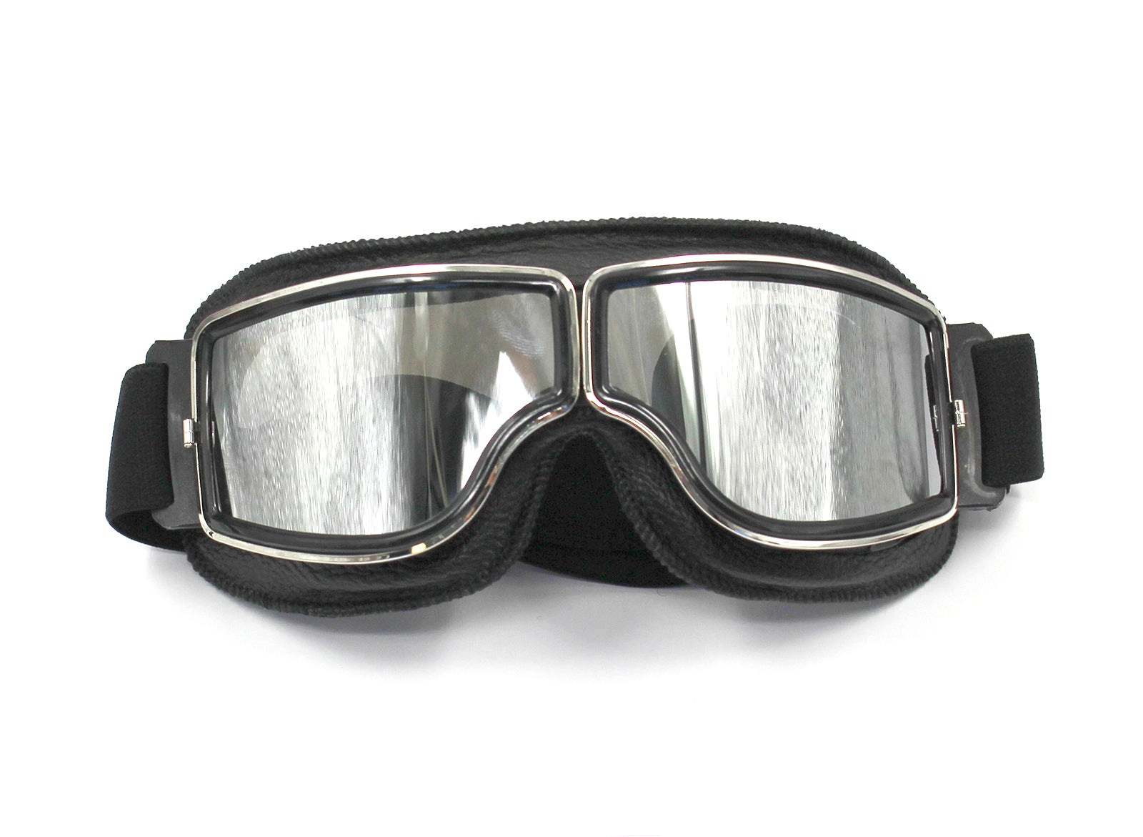 WWII Style German Motorcycle Harley Style Chopper Biker Pilot Goggles Black