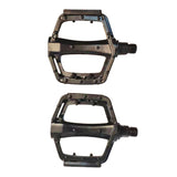 Black Alloy Platform Flat MTB Mountain Bike Chopper Road Bicycle 9/16 Inch 14 MM Axle Pedals