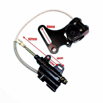 Rear Brake Caliper Cylinder System Dirt Pit Bike 110/125/140cc for Atomik Pitpro Dirt Trail Pit Bike