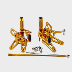 Gold Adjustable CNC Rearset Footrest for Yamaha YZF-R6 2003-2005 R6S 2006-2009