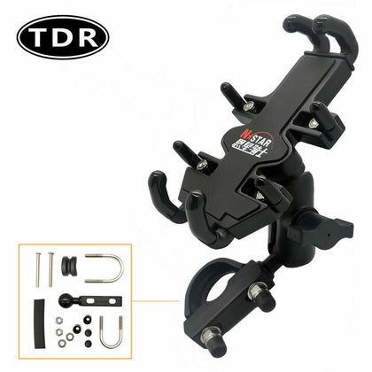 Motorcycle Dirt Bike Handlebar Mount Phone Holder w' Charger for iPhone X XS MAX