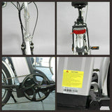 "TDR 20"" Step-Through Pedal-Assist Folding Ebike - Black"