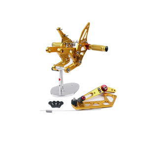 2015 2016 Yamaha YZF R1 GOLD Adjustable Rear Sets Footpegs Rearset