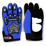 Adult Motocross MX Racing Gloves Off Road Riding Dirt Pit Trail Bike Atomik New - Blue, XL