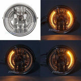 For Harley Bobber/Chopper/Touring/Custom Headlight Head Lamp With LED Signals