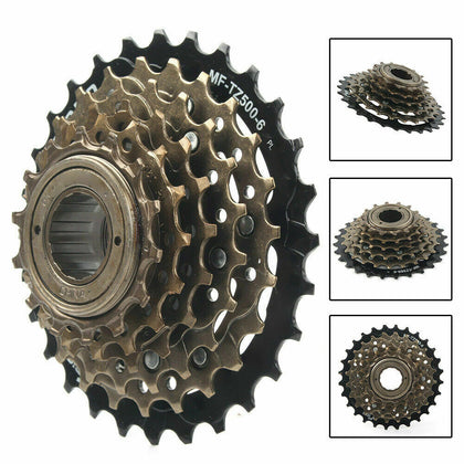 Bicycle Freewheel Cassette Sprocket 6 Speed 14T-28T Bike Replacement Accessory
