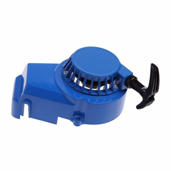 Blue Mini Pocket Bike Metal Pull Start Pullstart Pullcord Dirt Bike ATV Race
