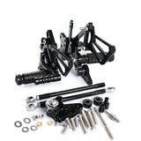 Rearset Foot Pegs Black For Honda CBR600RR ABS 2009 2010 2011 2012 2013-2015