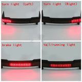Black LED Tail Light Brake Running Lamp Suit Harley Touring Trunk King Tour Pack