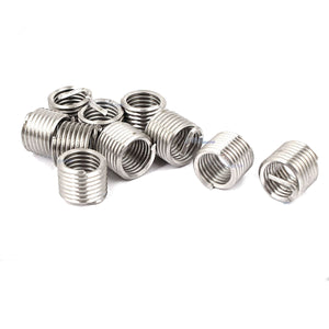 New 10Pcs M8 M8 x 1.25 x 1.5D Stainless Steel Helicoil Thread Repair Inserts M8