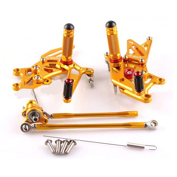CNC Rearset Footpeg Gold For 2007-2014 08 09 2011 2012 2013 HONDA CBR 600RR