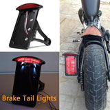 Black Side-mount License Plate Bracket LED Tail Light 4 Harley Sportster Bobber