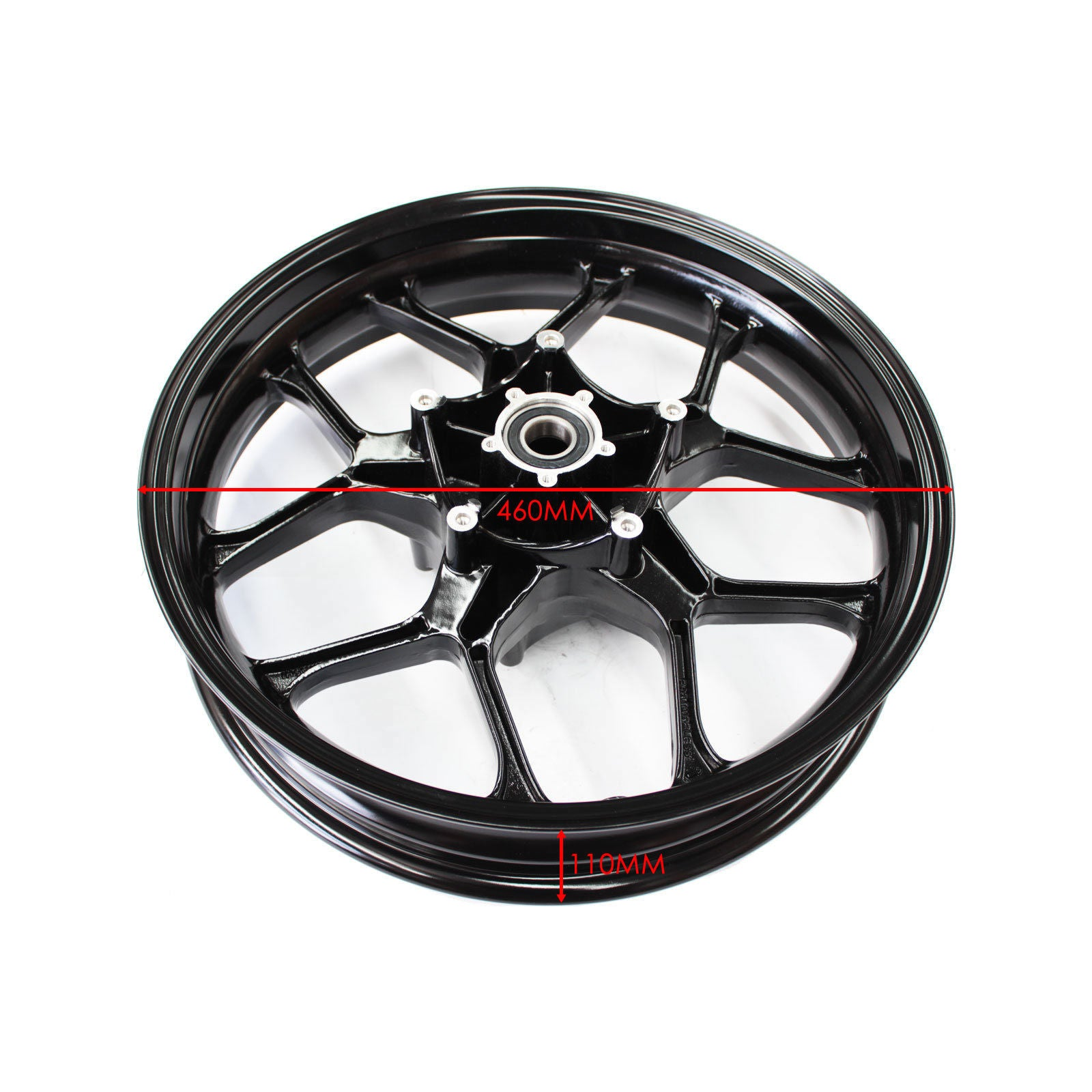 New Black Front Wheel Black Rim for Yamaha YZF-R1 R1 2017 Sport Bike Motorcycle