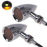 4x Motorcycle Metal LED Turn Signal Indicator Light 4 Harley Chopper Cafe Racer