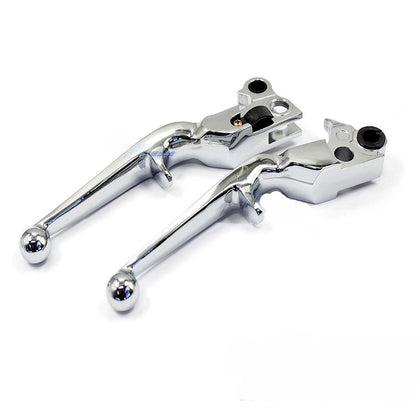 Chrome Front Brake Clutch Levers For Harley Davidson Sportster Softail Heritage