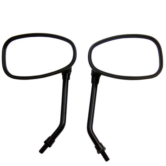 Universal BLACK Large Rearview Side Mirrors 10MM For Motorcycle ATV Dirt SCOOTER