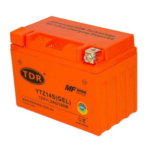 YTZ14S Motorcycle GEL BATTERY EQUIV TO YTX9-BS YTX12ABS YTZ12S 12V 11Ah Dry Cell