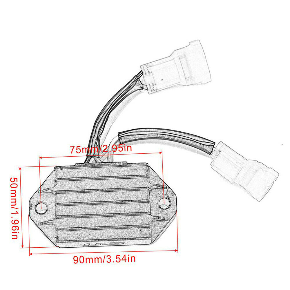 Motorcycle Regulator Voltage Rectifier for Yamaha YZ450F 2014-2019