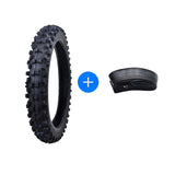 "KNOBBY FRONT TYRE + TUBE 60/100-14"" INCH TIRE MOTORCYCLE DIRT PIT PRO TRAIL BIKE"