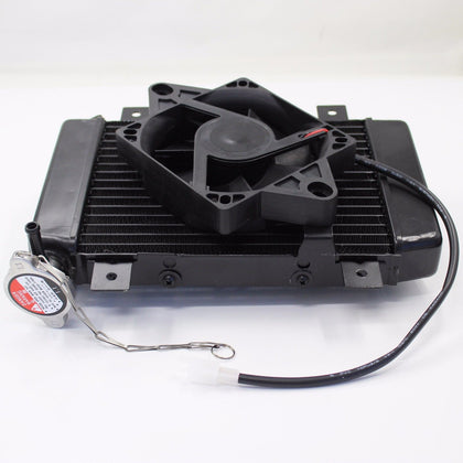 Water Cooled Radiator Cooler + Fan 150cc 250cc PIT Quad Dirt Bike ATV Dune Buggy