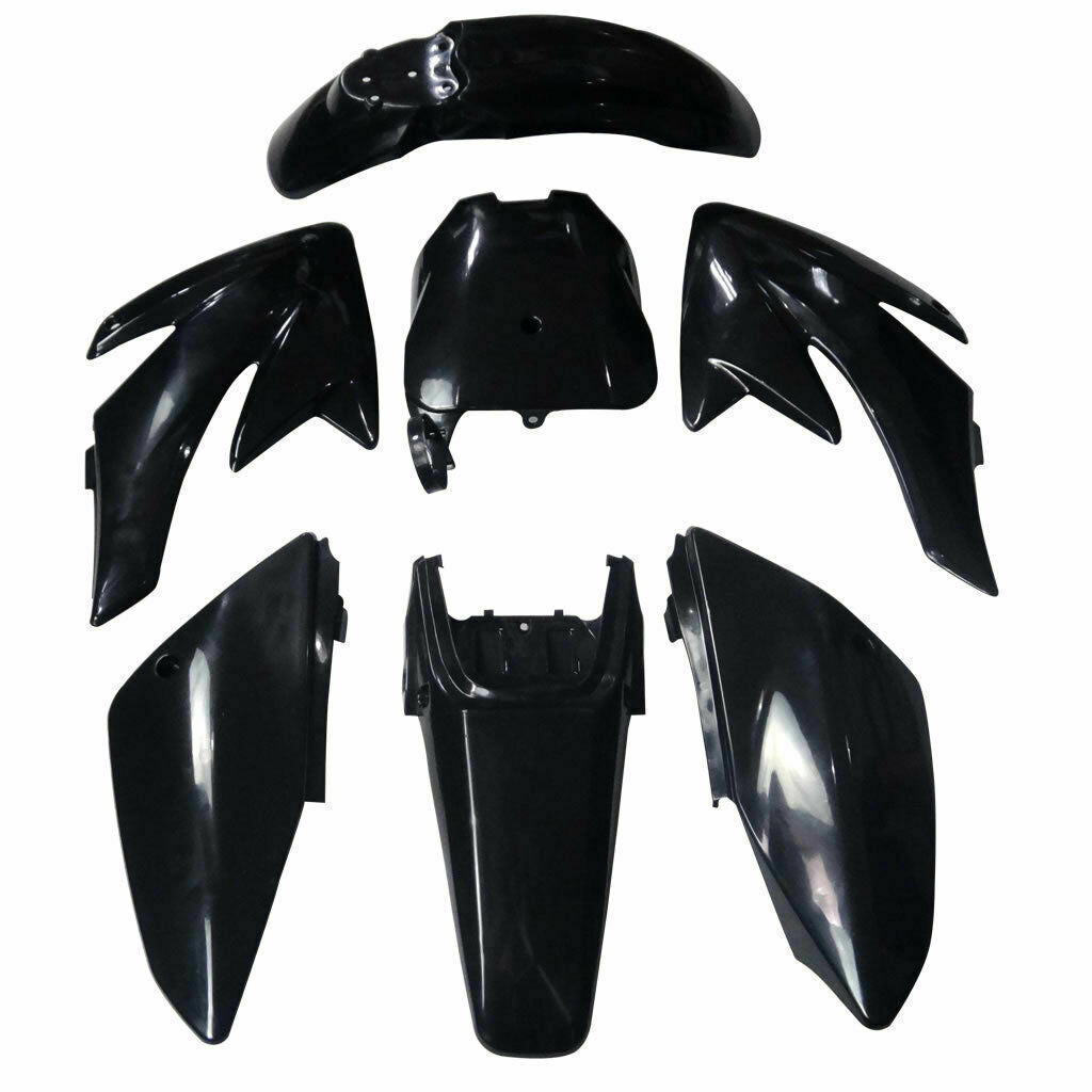 FOR ATOMIK PITPRO HONDA CRF70 125/140/150/160/200CC BLACK PLASTICS DIRT PIT BIKE