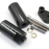 Carbon FRAME SLIDERS CRASH Knob Protection for 2008-2009 Yamaha YZF R6 YZF-R6 08