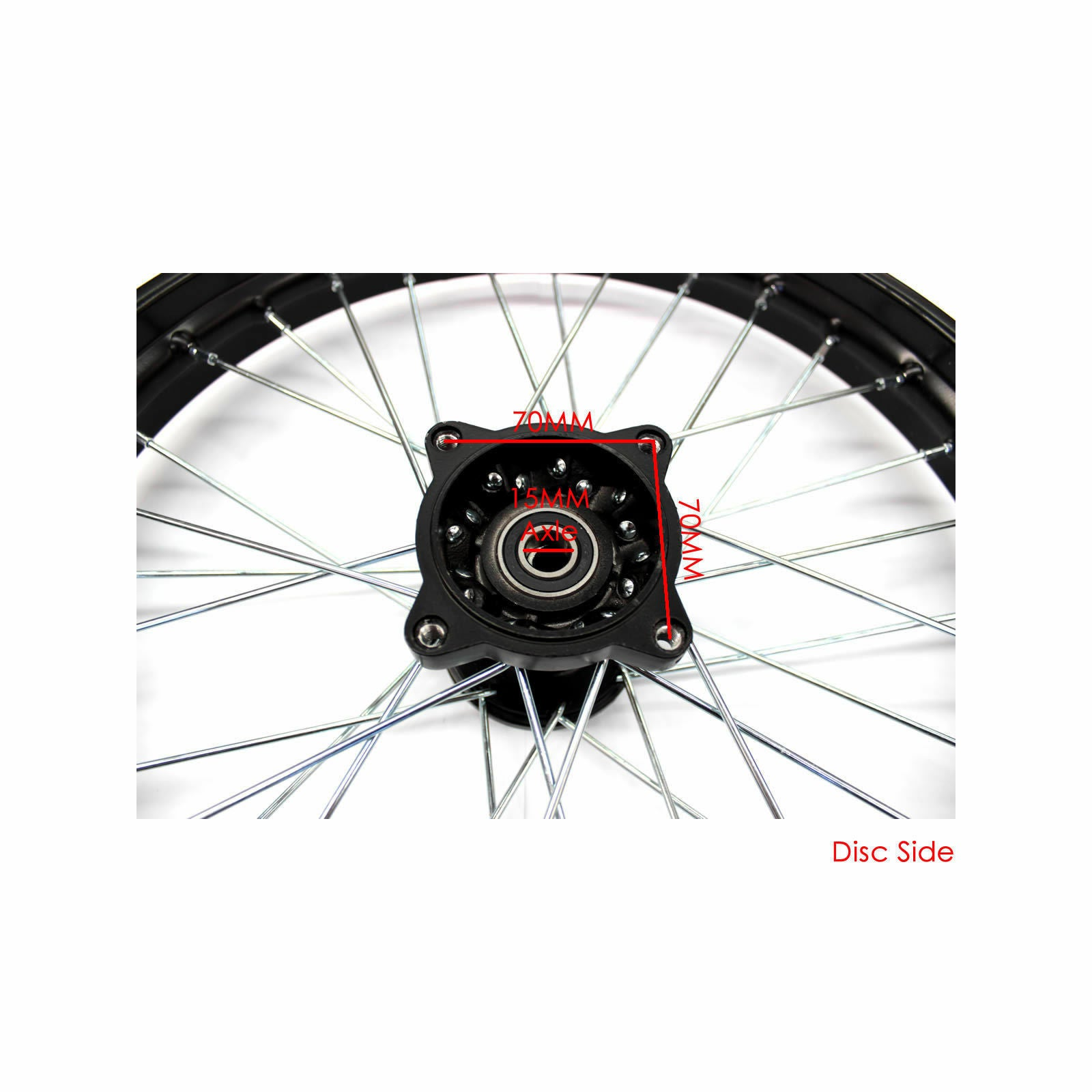 "17 Inch 1.60 x 17"" Front Rim 15mm Axle 140cc 150cc Dirt Pit Trail Bike big foot"