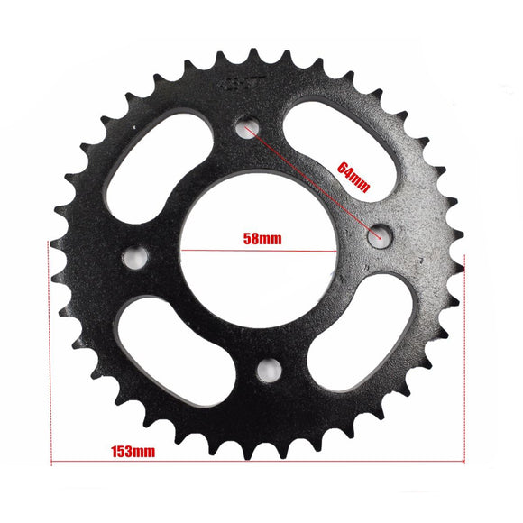 37T 428 CHAINWHEEL Rear Sprocket cog for Quad Dirt PIT PRO Bike ATV 125cc 58mm
