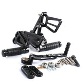 Black CNC Rearset Footpegs Rear Set For SUZUKI GSXR1000 GSXR 1000 K9 2009-2016