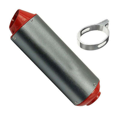 RED 38MM EXHAUST MUFFLER FOR ATOMIK PITPRO THUMPSTAR DHZ PIT DIRT BIKE MOTOCROSS