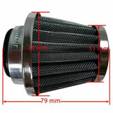 1X UNIVERSAL 38MM CHROME POD AIR FILTER/CLEANER HONDA YAMAHA KAWASAKI SUZUKI