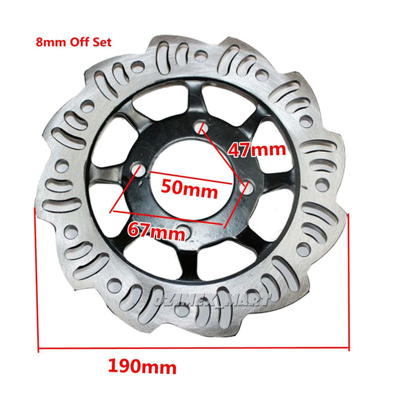 Front Brake Disc 190mm for Pit Dirt Bike Thumpstar Atv 125cc 140cc 160cc 200cc 50cc