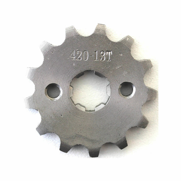 13T 420 Chain/Pitch Front Sprocket Cog 4 Pit/Trail/Dirt bike ATV Quad 17mm Shaft