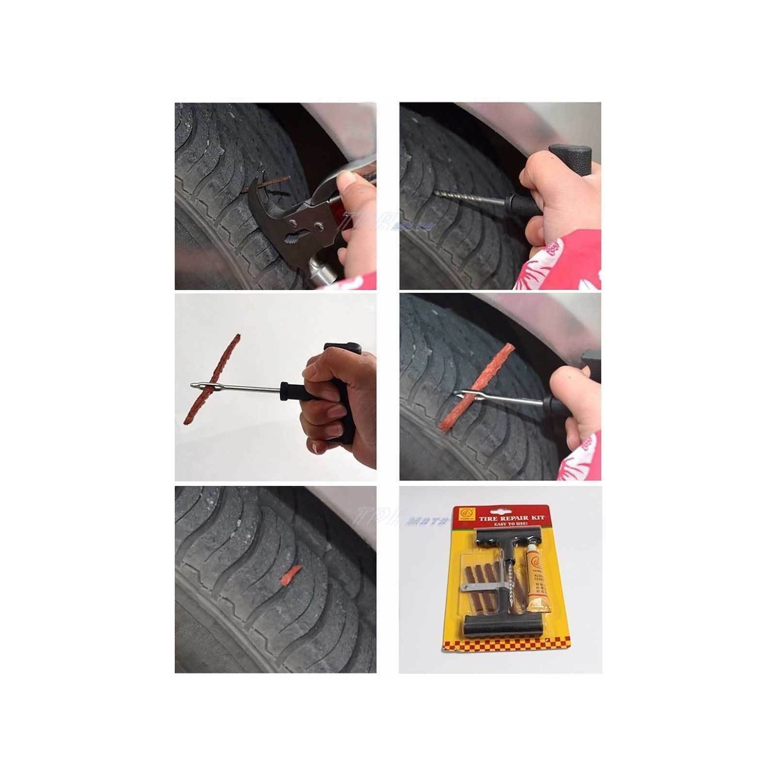 2 x Tyre Puncture Nail Repair Tool 9 Piece Tire 4X4 4WD Off Road Tubeless Auto