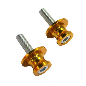 NEW 10MM Rear Swingarm Motorcycle Spool Sliders Swing Arm Stand Bobbins Gold