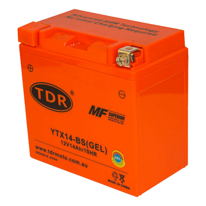 YTX14-BS Motorcycle Motocross 12v 14AH 200CCA GEL Sealed AGM Battery Motorcycle