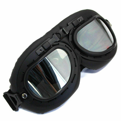 Retro Vintage Motorcycle Goggles Aviator Pilot Motocross Cruiser Eyewear Glass