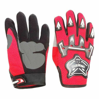Red Kids Children Motorcycle Gloves Motorbike Gear Motorcross S-M-L-XL Size