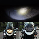 Pair - Motorcycle LED Driving Spotlight Spot Fog Head Light Lamps Bright White