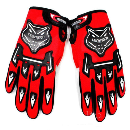 Adult Motocross MX Racing Gloves Off Road Riding Dirt Pit Trail Bike Atomik New - Red