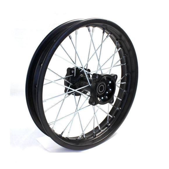 1.85-14 INCH REAR RIM WHEEL MX DIRT PIT TRAIL BIKE USE 90/100-14 TYRE TUBE 125CC