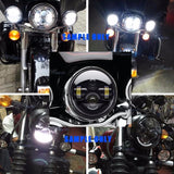 "5.75 inch 5-3/4"" projector 40W Round LED Headlight Motorcycle Light for Harley"
