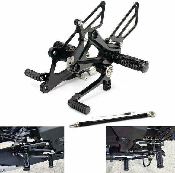 For Yamaha YZF R3 R25 2014-2018 Motorcycle Aluminium Rider Rearset Footrest Pegs