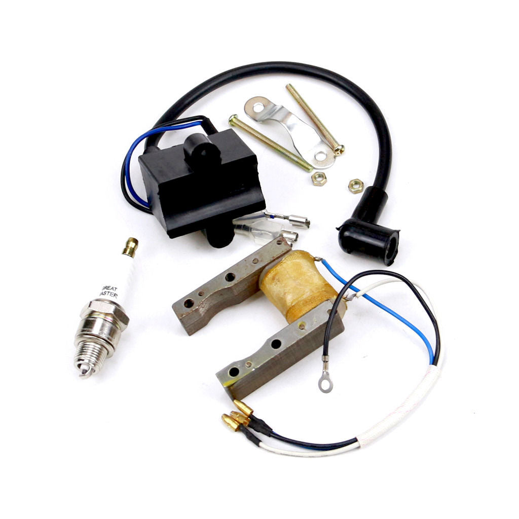 49cc-80cc Ignition Coil CDI+Spark Plug for Motorized Bicycle Push Bike Engine