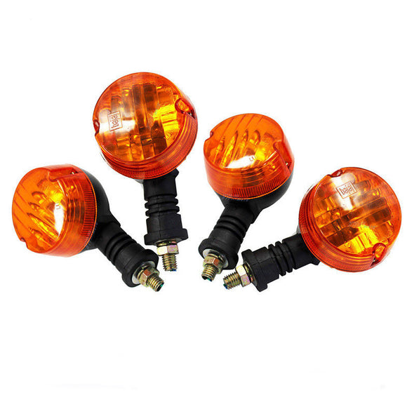 4x 12V Classic Motorcycle Bike Blinkers Turn Signal Indicator Light Amber