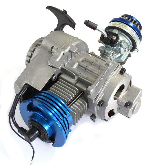 2 Stroke HP Racing Engine 49cc 47cc 50cc Pocket/Quad/Dirt Bike Pull Start Blue
